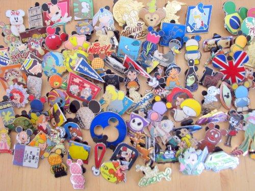 Disney Hidden Mickey Cast Lanyard Collector Badge Pin LOT of 100 Pins NO DOUBLES