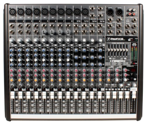 Mackie ProFX16 Compact 4-Bus Mixer with USB & Effects - Mackie Mixer Board