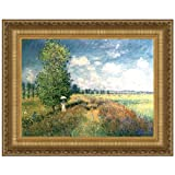 Design Toscano The Summer, Poppy Field, 1875: Canvas Replica Painting: Large