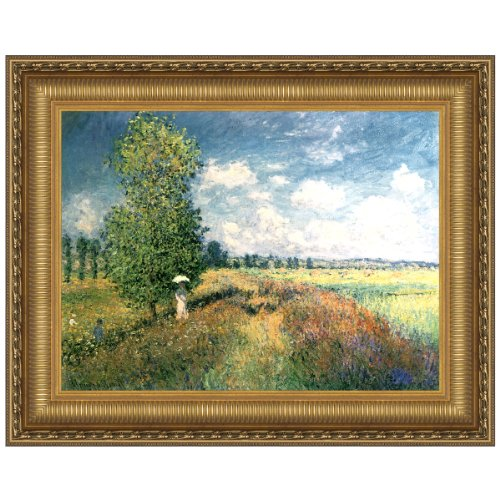 Design Toscano The Summer, Poppy Field, 1875: Canvas Replica Painting: Large by Design Toscano