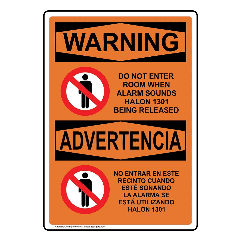 ComplianceSigns Vertical Plastic OSHA WARNING Do Not Enter ...