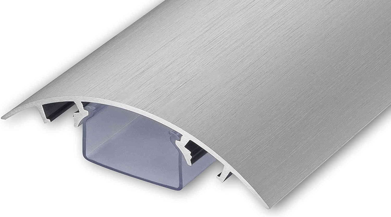 ALUNOVO Conduit de c/âbles semi-circulaire design pour c/âble aluminium en acier inoxydable finition bross/ée Longueur: 60cm