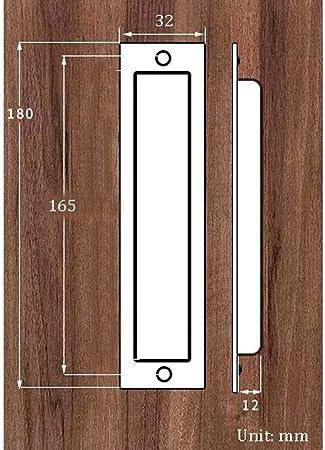 Tirador de Puerta corredera aleación de Zinc Negro Oculto Tirador de Puerta de Granero Armario cajón Empotrado Mango Rectangular 180 mm x 32 mm (Color : Bronze): Amazon.es: Hogar