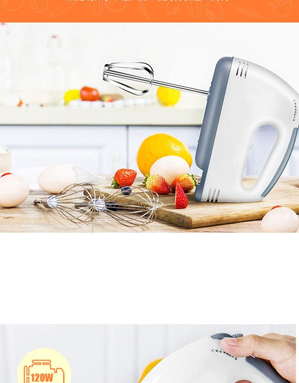 2 Fouets Batteur /à Main /électrique avec 2 Crochets /à P/âte La Cr/ème et la P/âte Batteur /à Oeufs /à Moteur 220V 100W Aide /à la Cuisine pour M/élanger les /œufs