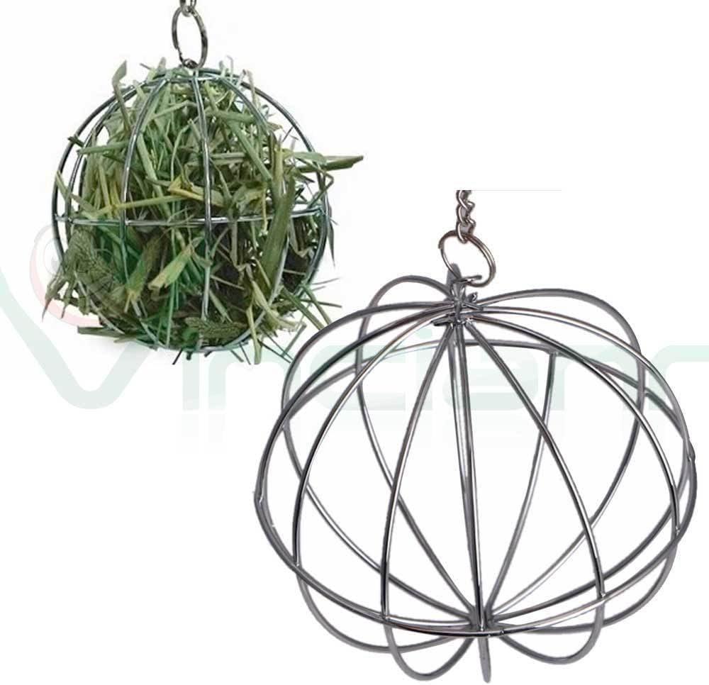 Pelota, bola de acero, juguete, comida, hierba, para conejo ...