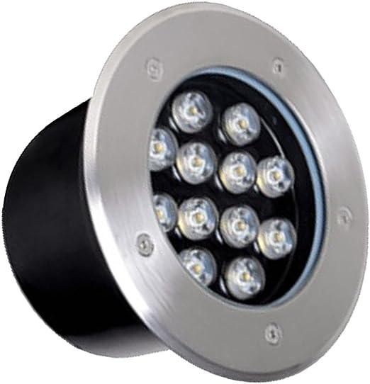 D DOLITY Foco LED empotrable, 1100lm vía iluminación 12 W exterior lámpara IP67 – Foco para jardín césped fahrstraßen Innenhof Aceras Pool Rango, larga duración, Super Calidad, verde: Amazon.es: Jardín