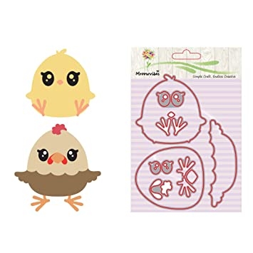 Amazon.com: Susada Cute Chick Shape Metal Cutting Dies ...