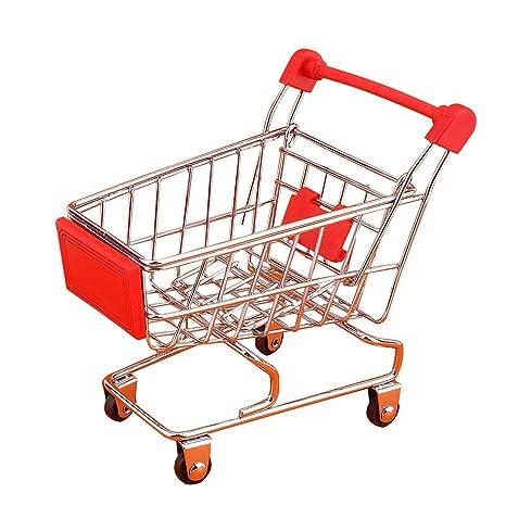Mini Carro de la compra Carro Carro de la compra del supermercado Modelo de metal Carro