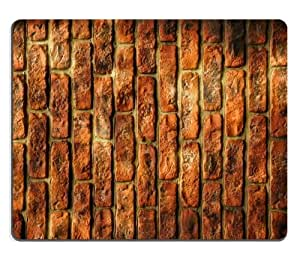 Texture Brick Orange Vertical Pattern Mouse Pads Customized Made to Order Support Ready 9 7/8 Inch (250mm) X 7 7/8 Inch (200mm) X 1/16 Inch (2mm) High Quality Eco Friendly Cloth with Neoprene Rubber Luxlady Mouse Pad Desktop Mousepad Laptop Mousepads Comfortable Computer Mouse Mat Cute Gaming Mouse pad by icecream design