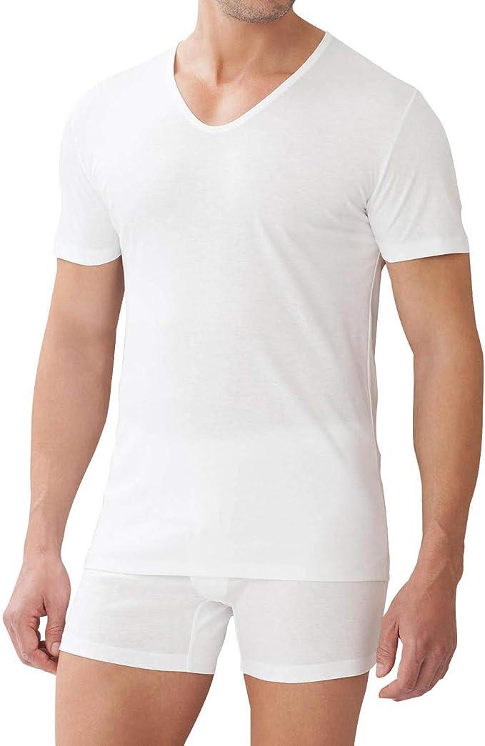 Zimmerli Sea Island Luxury Cotton V Neck T-Shirt 2861442