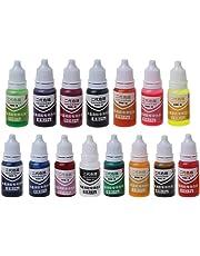 SimpleLife 10ml 15 colorante a Base di Sapone di Bomba da Bagno pigmento per Bagno di pigmenti a Base di Resina epossidica colorante UV