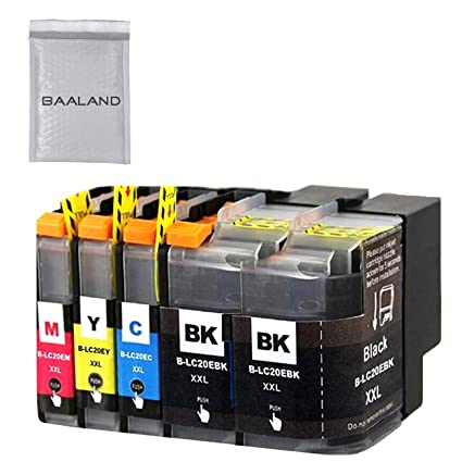 Replace LC20E Super High Yield Compatible Ink Cartridge LC20EBK2/C/M/Y 5PACK for Brother MFC-J985DW J5920DW J775DW J985DWXL Printer