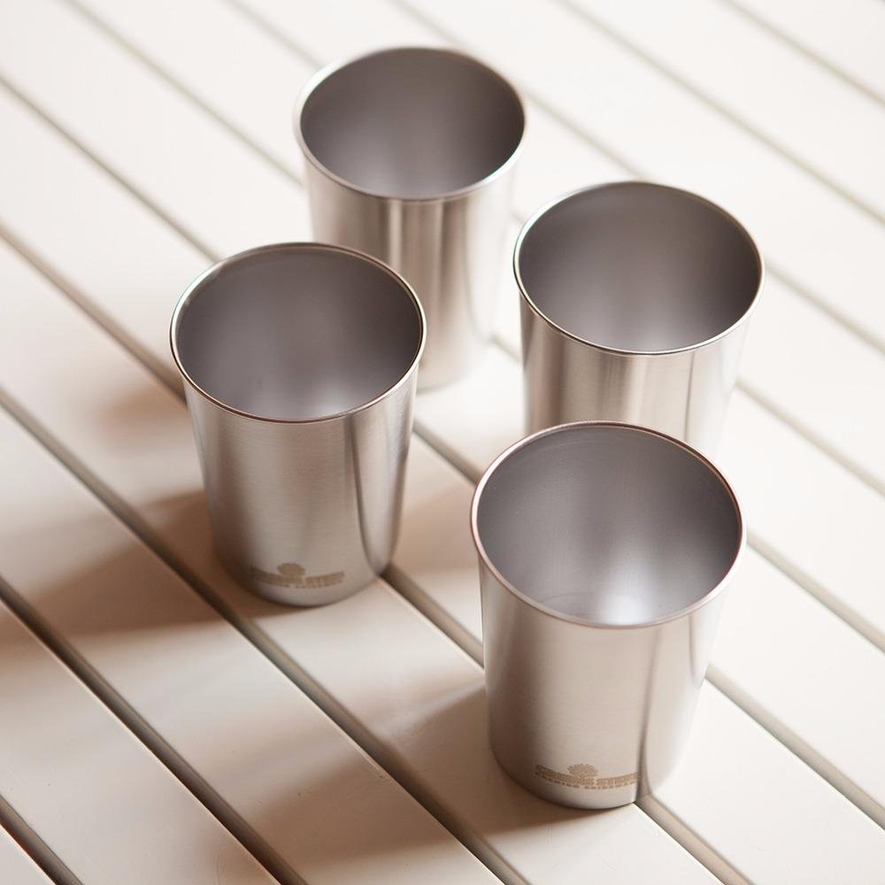 10oz Stainless Steel Cups - Metal Cups For Kids - BPA free (4 Pack) by Greens Steel (Image #8)