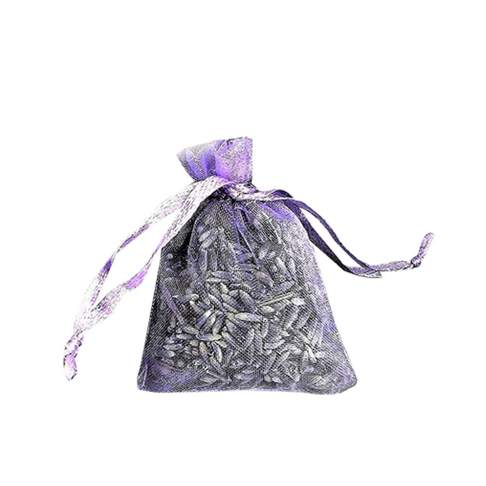 Gaddrt 12 Bags of Dried Lavender in Small Lilac Purple Organza Lavender Bags Real Flower Wedding//Home Fragrance//Crafts