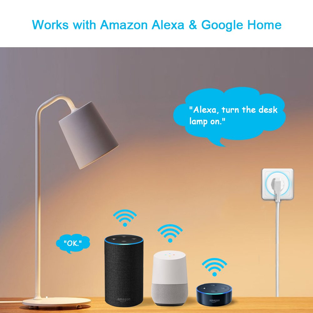 Smart Plug, Lightstory Mini Wi-Fi Socket Outlet Works with Alexa Echo/dot Compatible with Google Home Assistant IFTTT, Remote Control Your Devices from Anywhere, No Hub Required by LIGHTSTORY (Image #5)