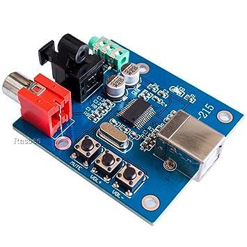 Amazon.com: Piezas Torre PCM2704 DAC USB a S/PDIF tarjeta de ...