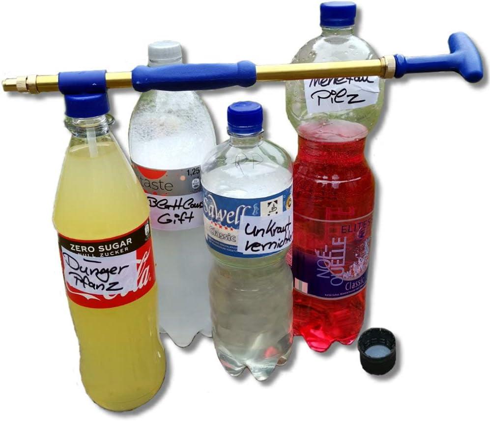 Gartenheld Greencare - Pulverizador para Botellas de PVC - Ideal para rociar Flores, césped, Frutas y Verduras - Accesorios de jardín para riego de Aire comprimido