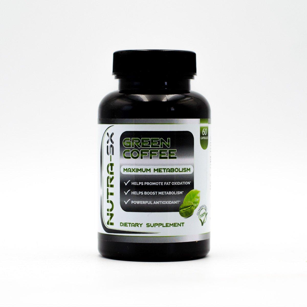 Nutra SX- Green Coffee- Maximum Metabolism- Helps Promote Fat Oxidation- Helps Boost Metabolism-Powerful Anti-Oxidant