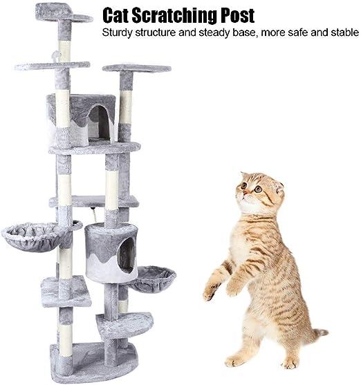 AYNEFY Árbol para Gato Torre de Escalada Natural, Escalador para ...