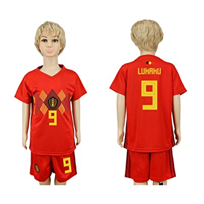 2018 World Cup Belgium National Team #9 Soccer Jersey Kids/Youths Size