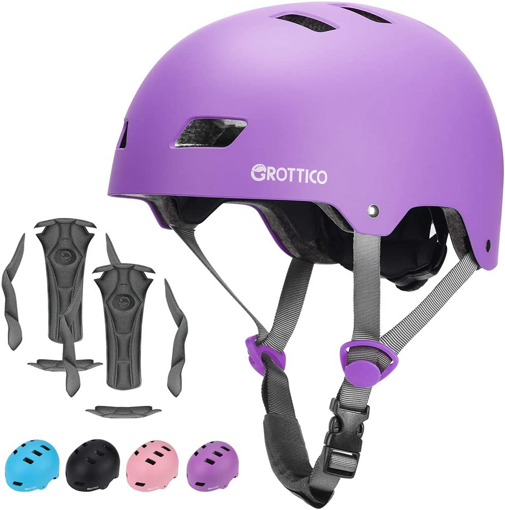 GROTTICO Toddler Kids Bike Helmet for Boys Girls, Muti-Sport Helmet for Cycling Skate Scooter Skateboard, Adjustable for 3-14 Years Old Children, CPSC & ASTM Certified and Replacement Liner : Sports & Outdoors