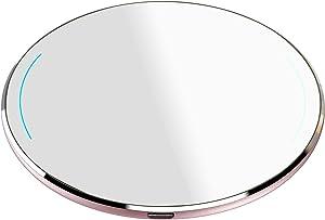TOZO W1 Wireless Charger Ultra Thin Aviation Aluminum CNC Unibody Fast Charging Pad Rose Gold