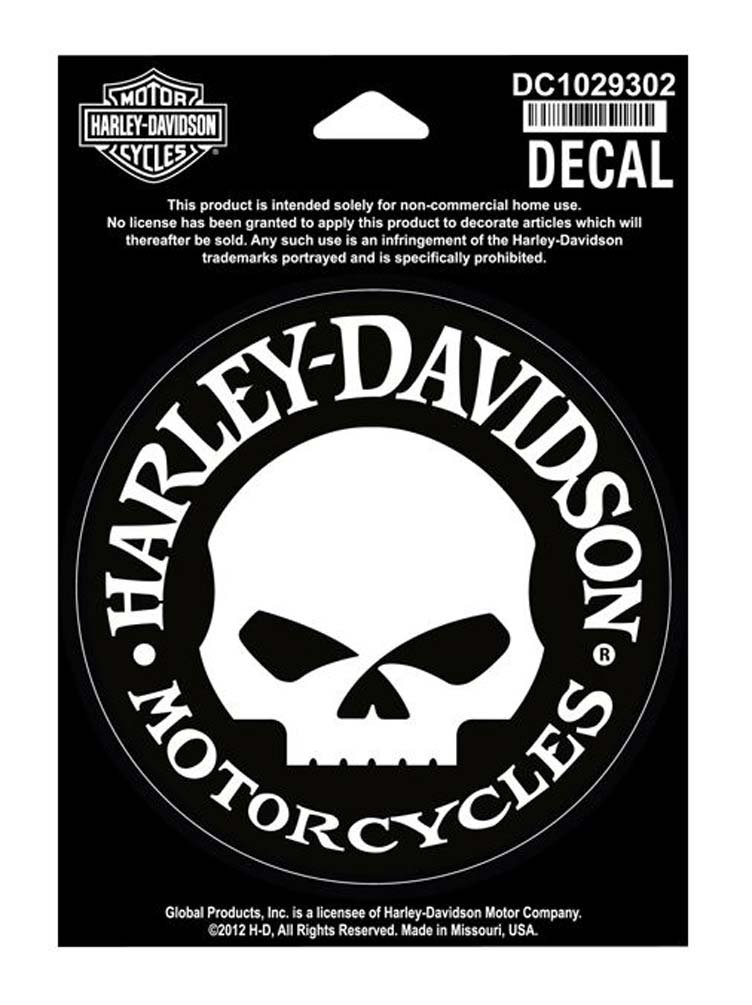 Amazoncom HarleyDavidson Small Hubcap Skull Decal Motorcycle - Harley davidsons motorcycles stickers