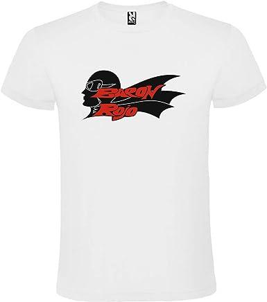 ROLY Camiseta Blanca con Logotipo de Baron Rojo Hombre 100% Algodón Tallas S M L XL XXL Mangas Cortas: Amazon.es: Ropa y accesorios