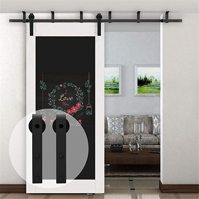 6FT/1.83M Soporte de montaje en techo Herraje para Puerta Corredera Kit de Accesorios para Puertas Correderas: Amazon.es: Bricolaje y herramientas