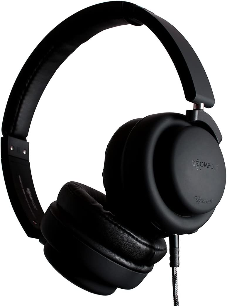 Boompods Hush Active Noise Canceling Headphones (Black) On-Ear Comfort Earpads - 12 Hour Battery - Deep Bass - Powerful Noise Reduction