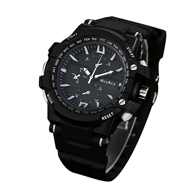 SamMoSon Reloj Relojes Hombre Deportivos Mujer, Mcykcy Moda Hombre Reloj Deportivo De Cuarzo Analógico De Lujo B: Amazon.es: Ropa y accesorios