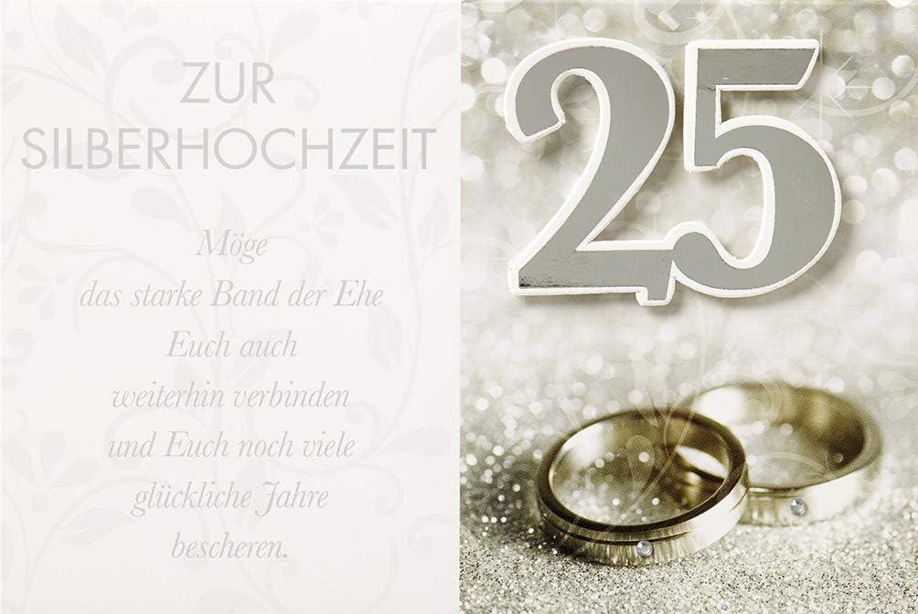 Gl/ückwunschkarte 25 Silberhochzeit Ehrenurkunde 71-1097