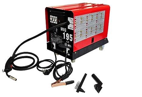 Máquina de soldadura MIG(Metal-Inert Gas Soldadura) 195: Amazon.es ...