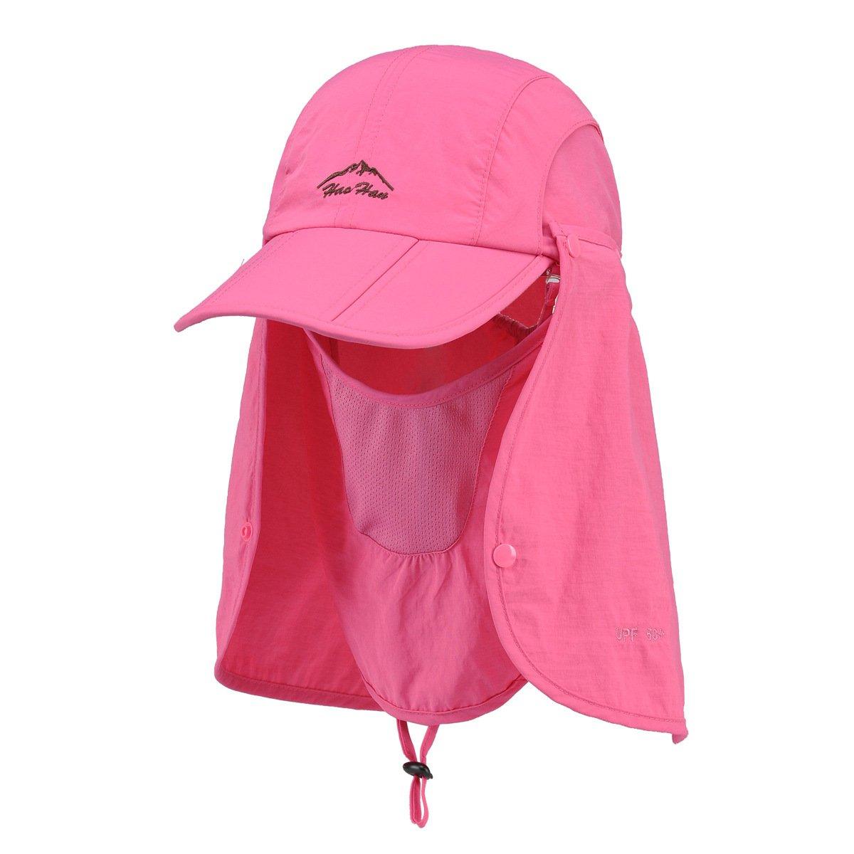 Belsen UPF 50+ Summer Hat Neck Protection Flap Cap (Pink) by Belsen