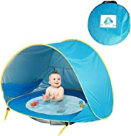 Wikole Portable Automatic Open Sunscreen Waterproof Beach Children Tent Play Tents