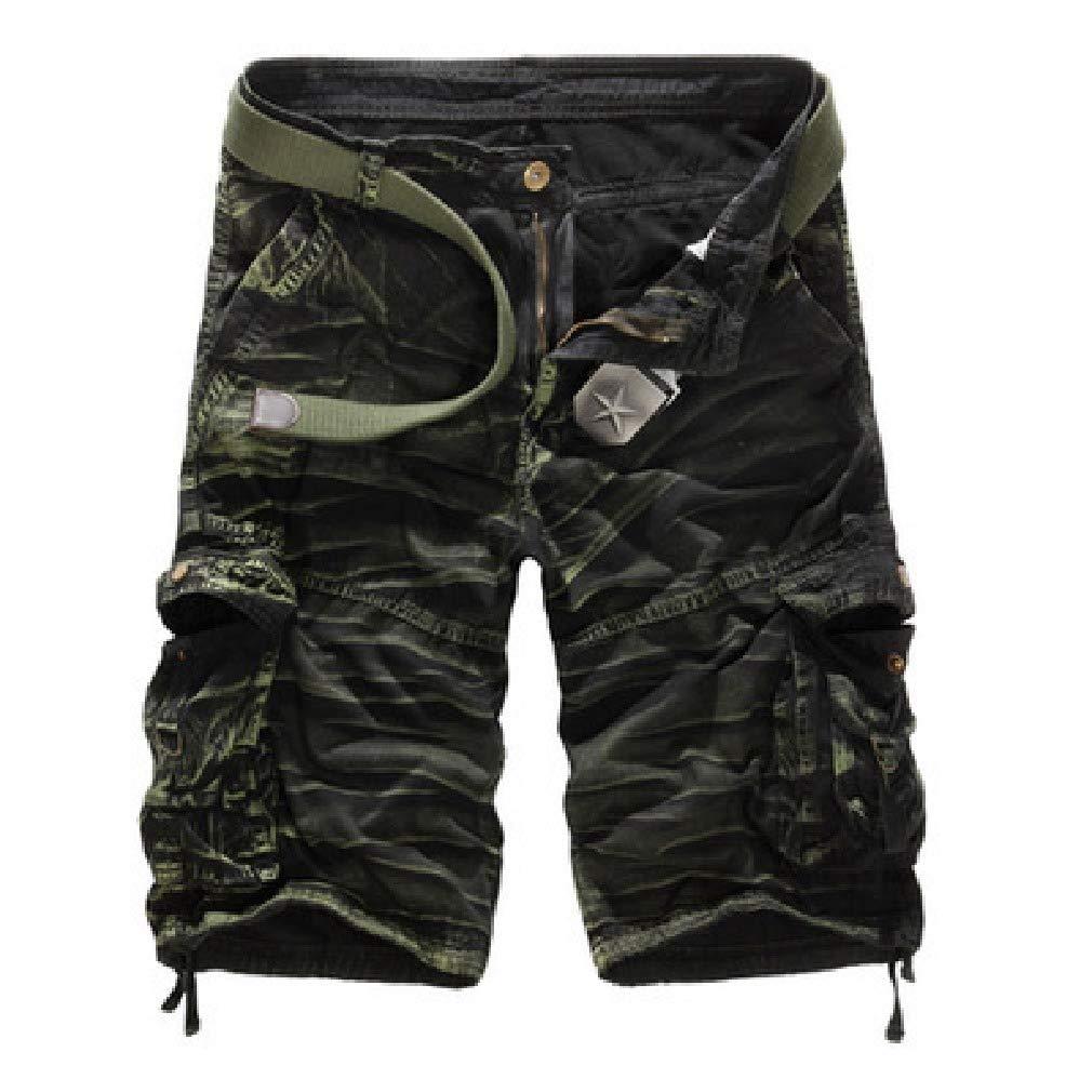 Energy Mens Plus-Size Multi Pockets Camouflage Straight Endurance Shorts