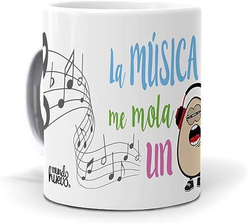 mundohuevo Taza La música me Mola un Huevo: Amazon.es: Hogar