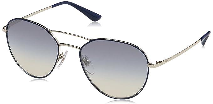 VOUGE Damen Sonnenbrille 0VO4060S 50597B, Blau (Silver/Bluee/Gradlightblueemirrorsilver), 54