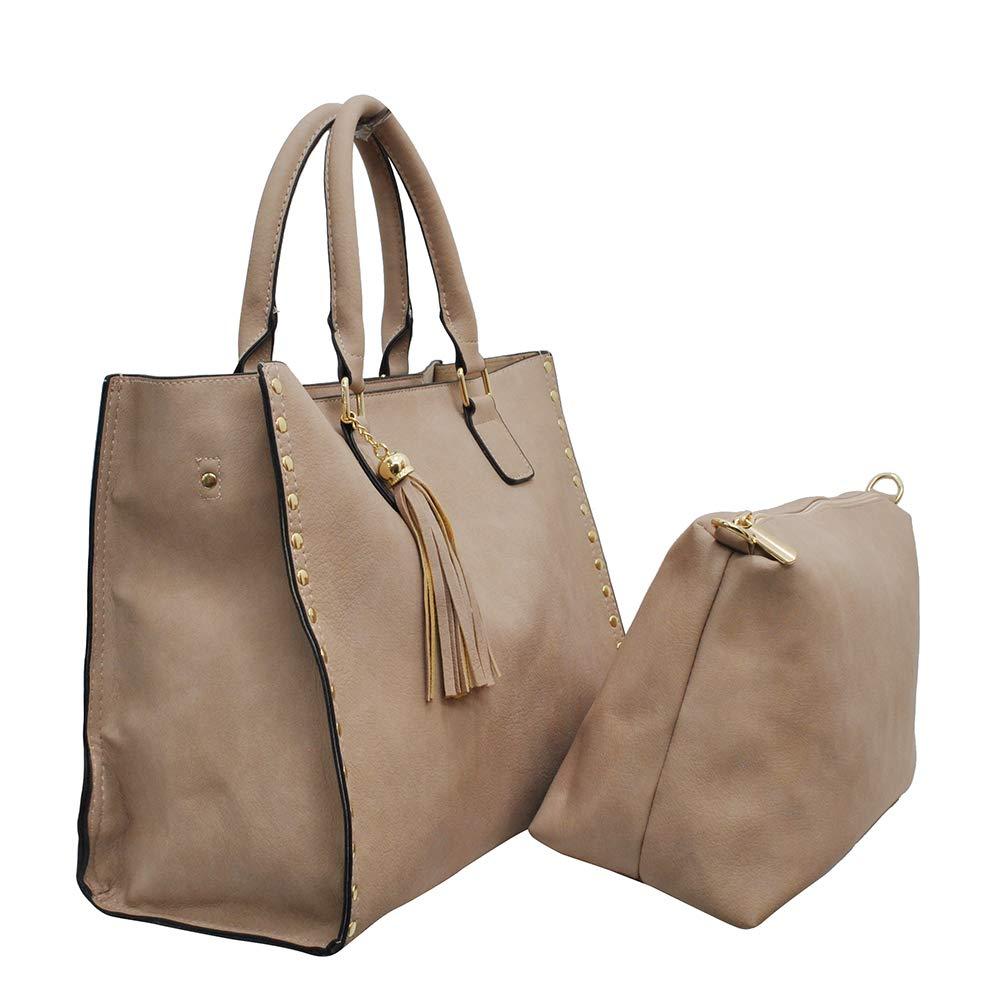 NGIL Themed Print 2-in-1 Tote   Crossbody Bag (Beige)  Handbags  Amazon.com f6dc4462bf81d