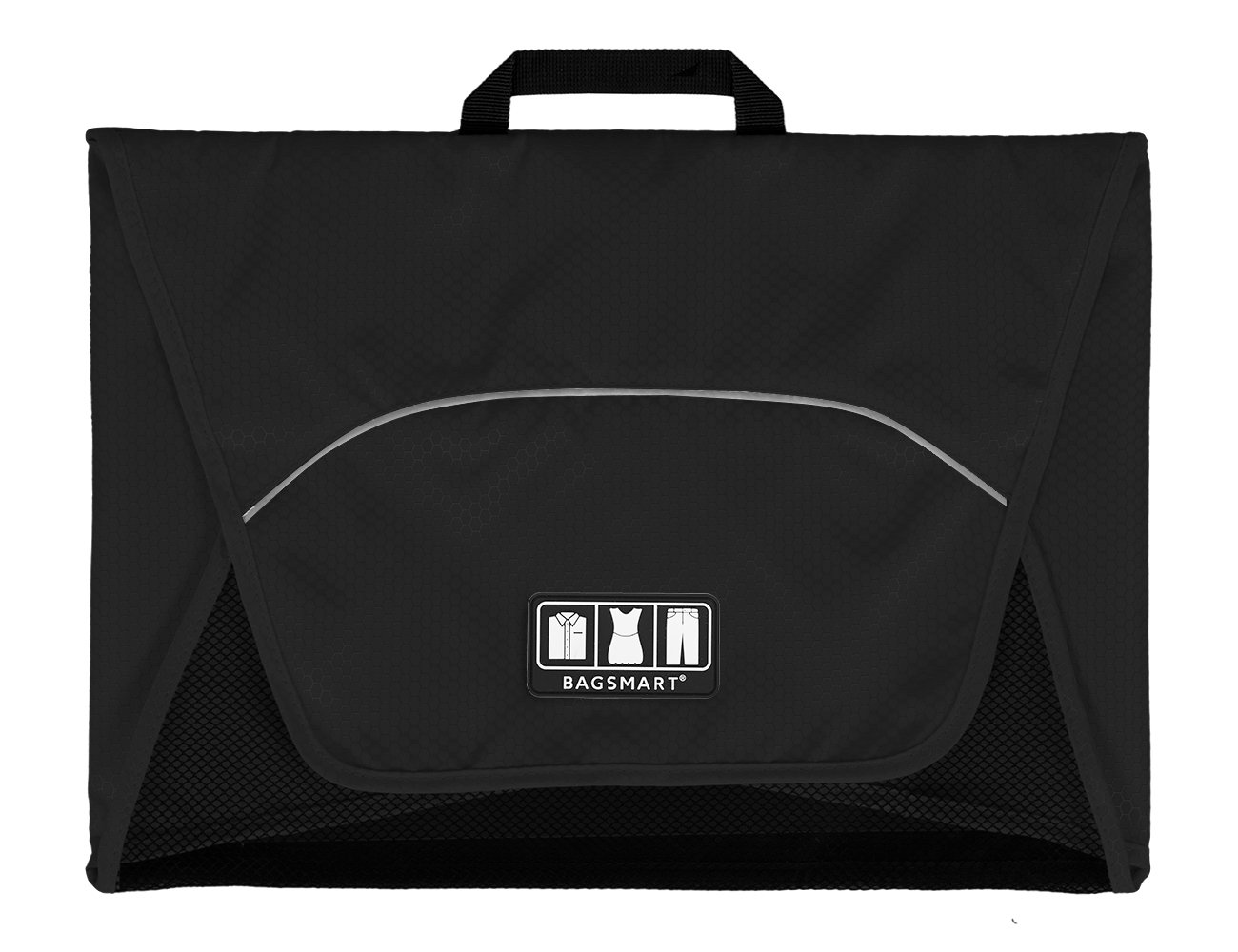 BAGSMART 17'' Packing Folder Anti-wrinkle Travel Garment Bag and Luggage Accessory, Black