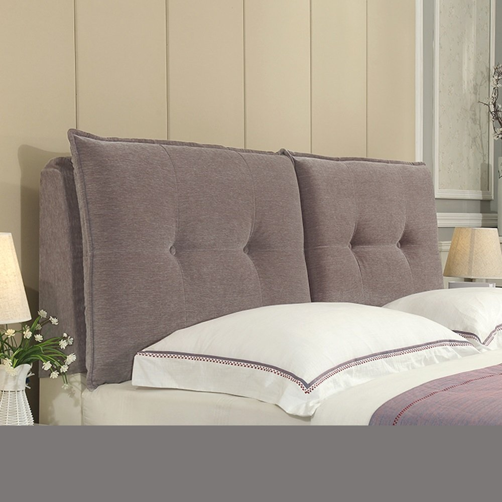 Sofa large cushions / large backrest / cushions / bedside cushions / bedroom bed pad / fabric backrest ( Color : Gray , Size : 2006010cm )