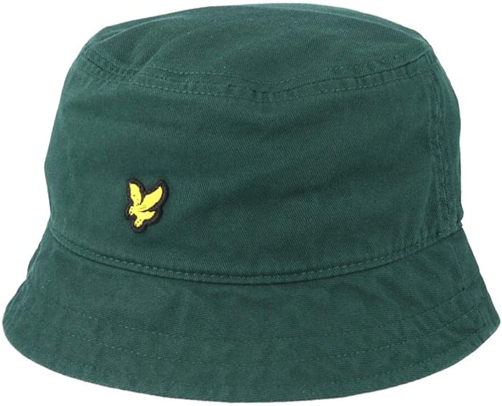 Lyle /& Scott Cotton Twill Bucket Hat Jade Green-Gorros