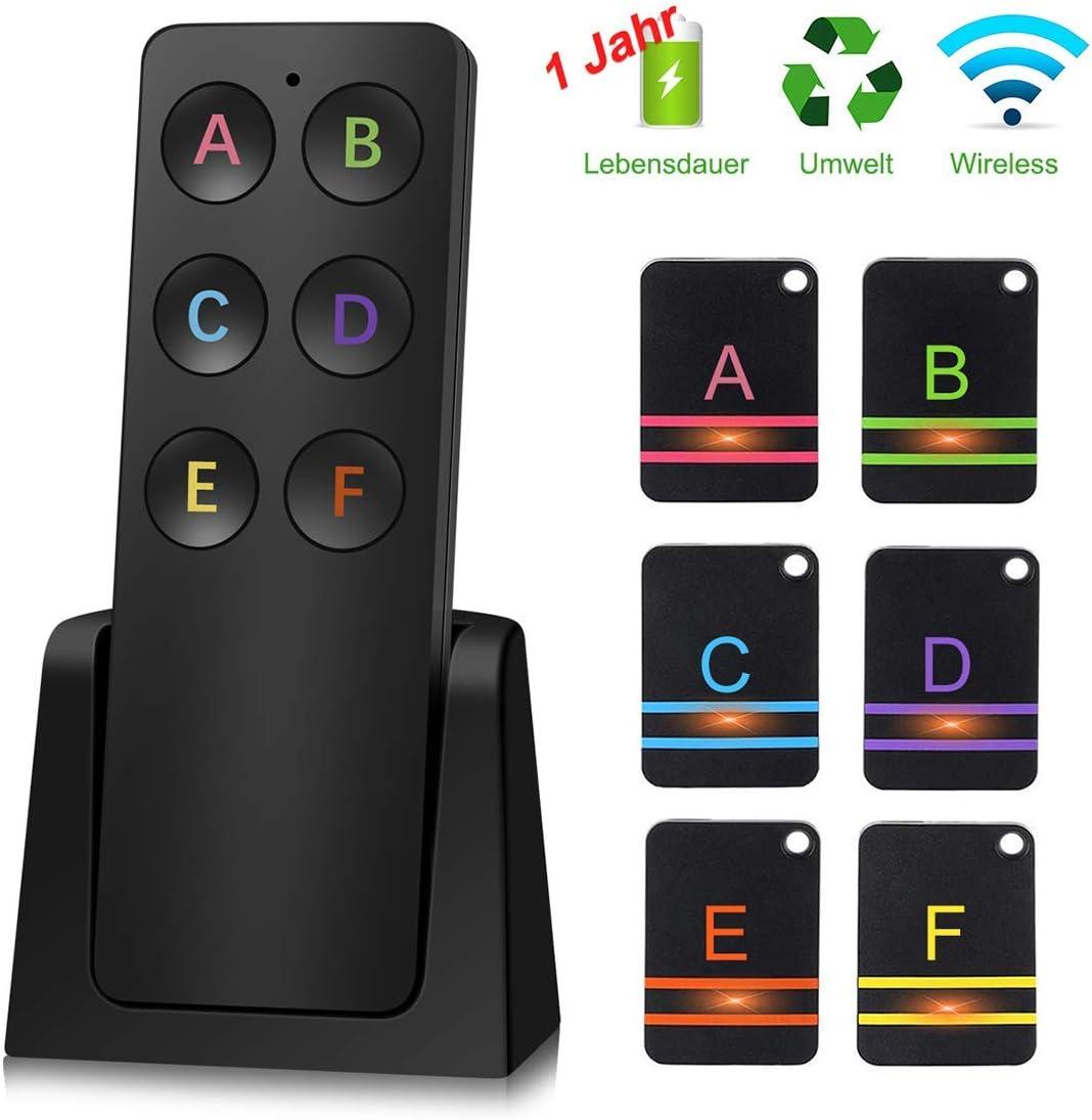 Localizador de llaves inalámbrico con 6 receptores, rastreador de mascotas, rastreador de cartera, soporte para llaves con mando a distancia, buena idea para tus objetos perdidos.