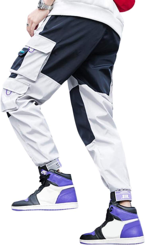 Pantaloni Sportivi Casual Sciolto Multi Tasca Irypulse Pantaloni Cargo Uomo Moda da Strada Urbana Pantaloni da Combattimento Lavoro per Adolescenti e Giovani Ragazzi Design Originale