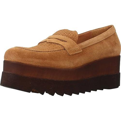 Mocasines para Mujer, Color Hueso, Marca Hangar, Modelo Mocasines para Mujer Hangar T1075 Hueso: Amazon.es: Zapatos y complementos