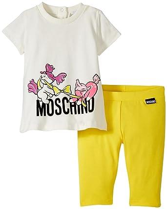 d9c04a622e49d Amazon.com: MOSCHINO Baby Girls' Graphic T-Shirt and Legging Set ...