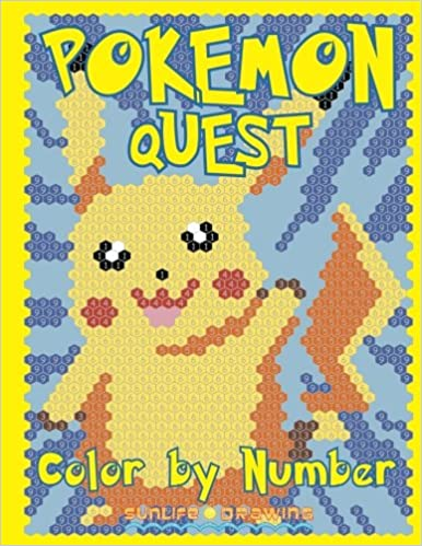 pokemon quest color by number activity puzzle coloring book for children and adults quest color by number books volume 2 sunlife drawing - Color By Number Books