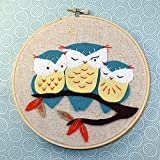 Heidi Boyd | Hoot Owls | Whimsy Stitches Hoop Kit | Create These Adorable Owls Sitting on a Branch with This Easy to Sew Appliques and Embroidery Kit