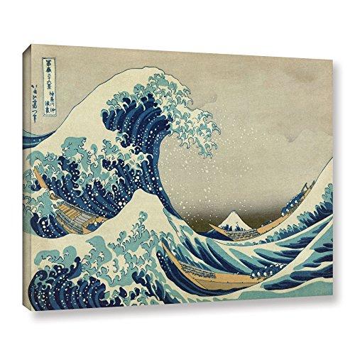 (ArtWall Katsushika Hokusai 'The Great Wave Off Kanagawa' Gallery Wrapped Canvas Artwork, 36 by)