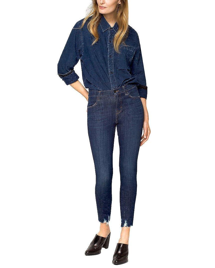 J Brand Alana High-Rise Crop Skinny Jeans in Dark Fantasy